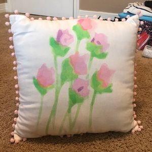 NWT Pink and white accent pillow